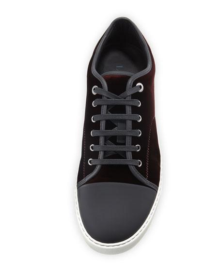 Velvet Cap-toe Low-Top Shoe