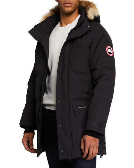 Image 1 of 4: Emory Down Parka with Fur-Trim Hood