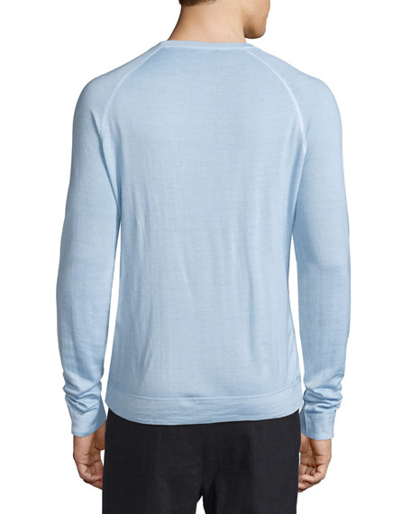 Raglan-Sleeve Crewneck Sweater