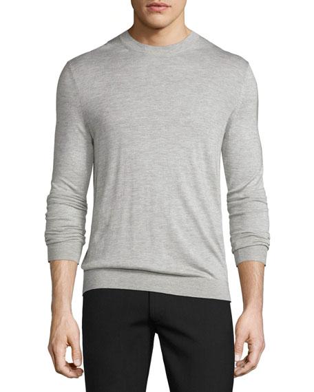 Theory Riland Silk-Cashmere Crewneck Sweater