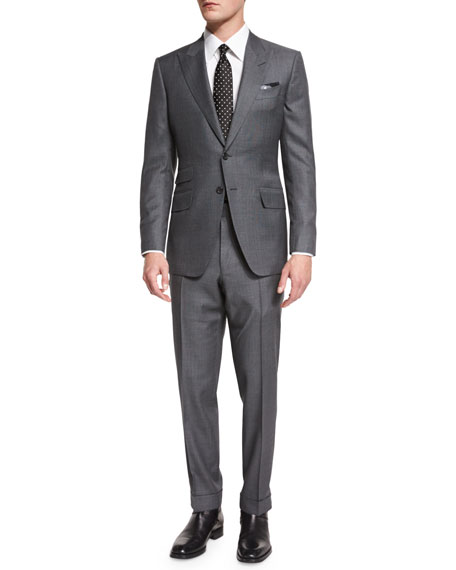 O'Connor Base Irregular Canvas Two-Piece Suit, Gray