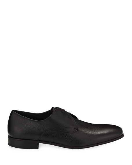 Men's Calf Leather Dress Oxford, Black