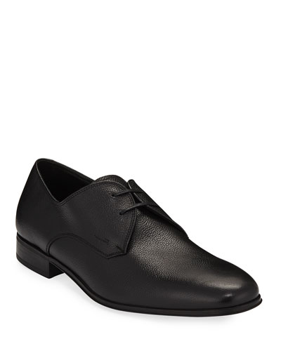 Men's Calf Leather Dress Oxford, Black