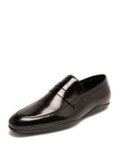 Harrys of London Downing Italian Leather Penny Loafer