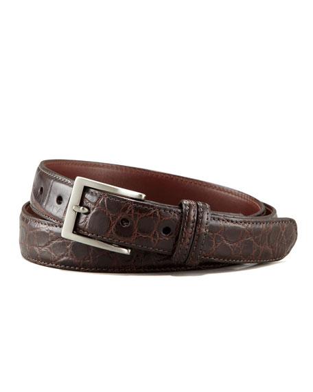 Matte Alligator Belt, Brown