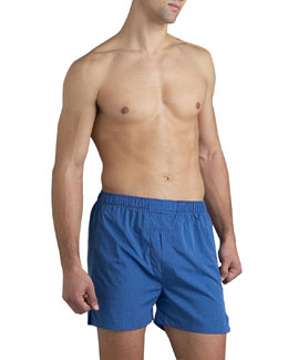 Neiman Marcus Blue Full-Cut Boxers