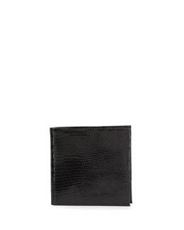 Neiman Marcus Lizard Continental Wallet