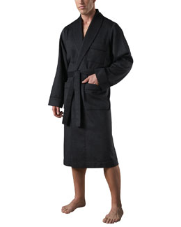 Neiman Marcus Cashmere Robe, Navy