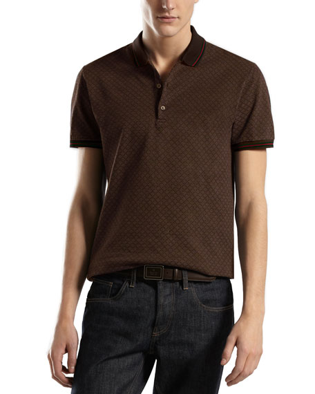 Short-Sleeve Polo, Chocolate
