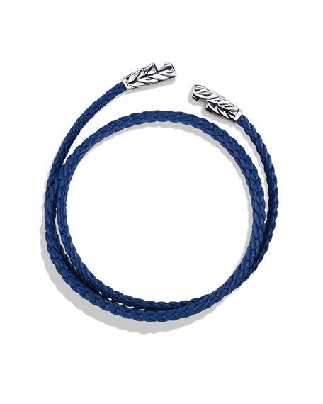 Chevron Triple-Wrap Bracelet in Blue