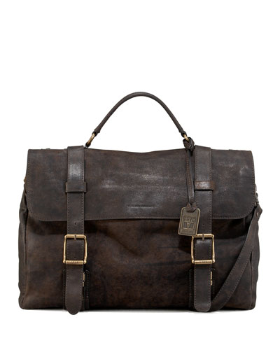 Logan Leather Messenger Bag