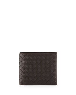 Bottega Veneta Basic Woven Wallet, Brown