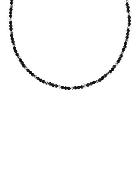John Hardy Mini Black Onyx Bead Necklace