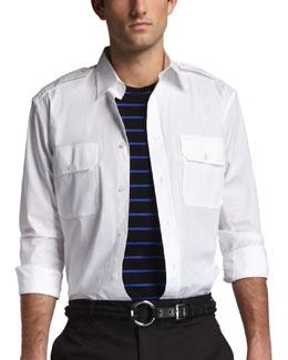 Rover Military Shirt, White