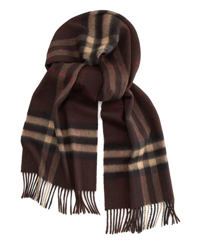 Burberry Giant-Check Iconic Cashmere Scarf