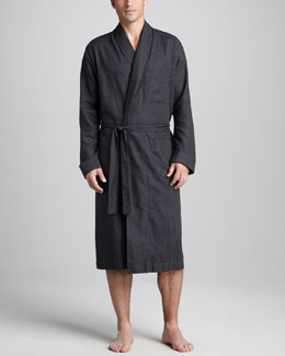 Neiman Marcus Plaid Robe