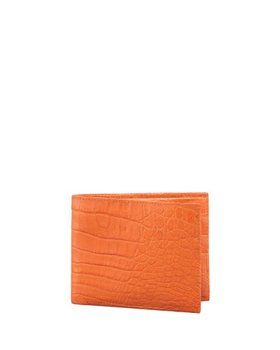 Crocodile Wallet, Orange