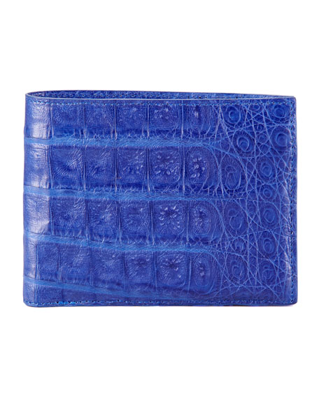 Crocodile Wallet, Bright Blue