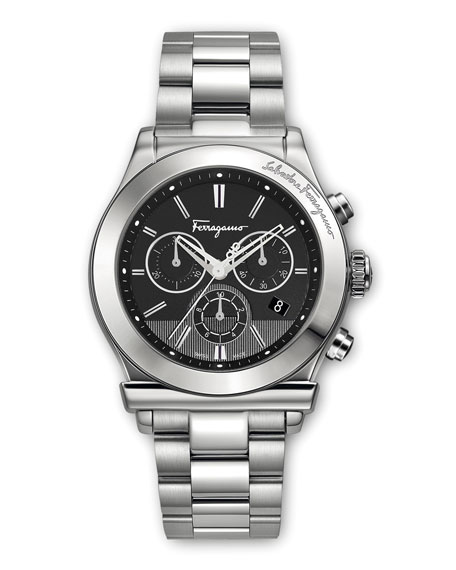 Salvatore Ferragamo Classic Stainless Steel Chronograph Watch