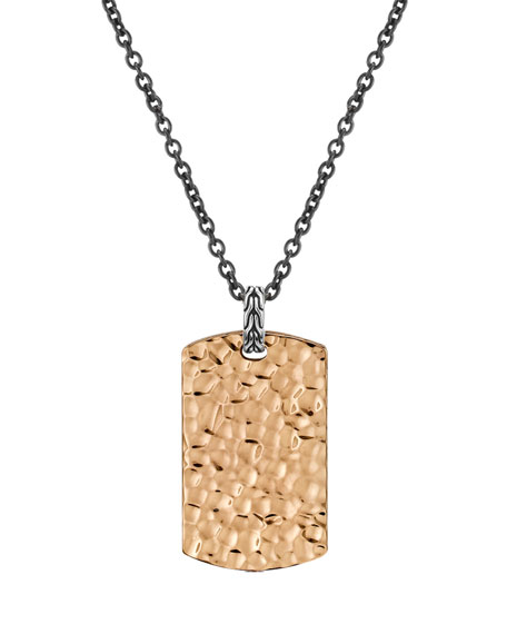 RG PLATE HAMMERED DOGTAG