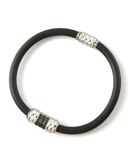 Black Sapphire Rubber Bracelet