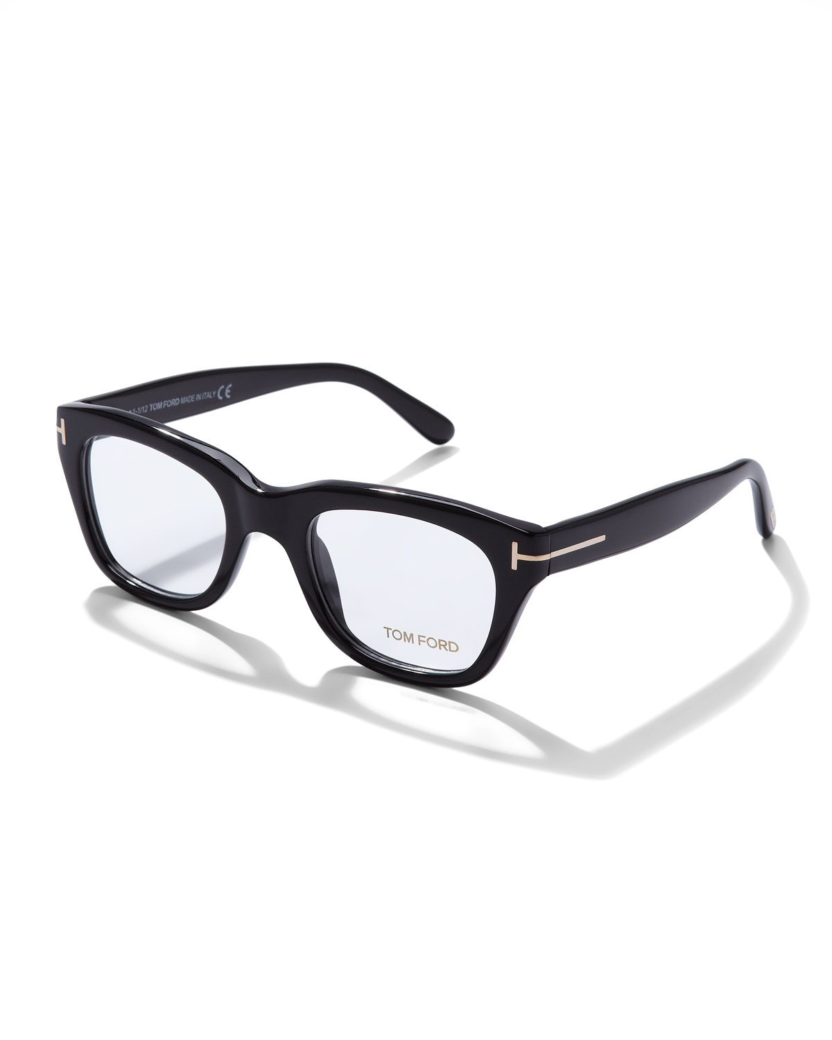 TOM FORD Large Acetate Frame Fashion Glasses, Black | Neiman Marcus