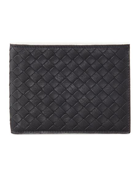 Woven Wallet, Black/White