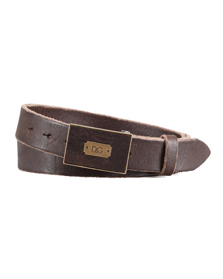 D&G Square-Logo Belt