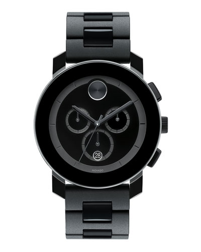 43.5mm Bold Chronograph Watch, Black