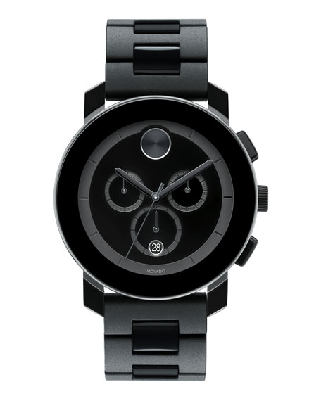 43.5mm Bold Chronograph Watch, Black