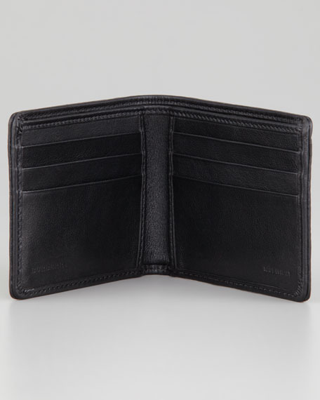 Check-Embossed Large Bi-Fold Wallet