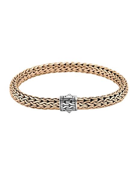 Classic Bronze Men's Woven Chain Bracelet