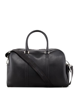 Salvatore Ferragamo Los Angeles Men's Duffle Bag, Black