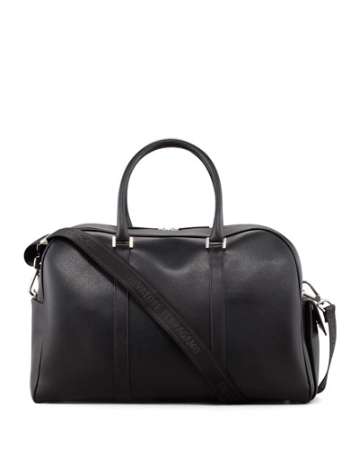 Salvatore Ferragamo Los Angeles Men's Duffle Bag, Black
