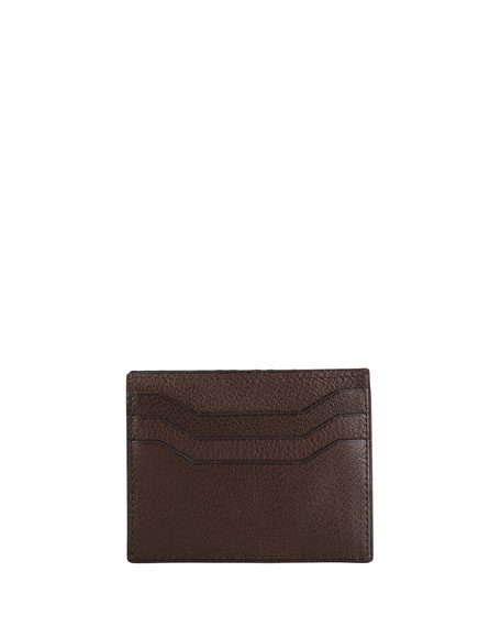 Flap Card Case, Brown