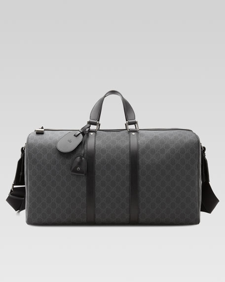 Gucci GG Supreme Canvas Large Carry-On Duffel Bag,