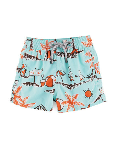 Father & Son Boys' Jam Swim Trunks, Sizes 2-6