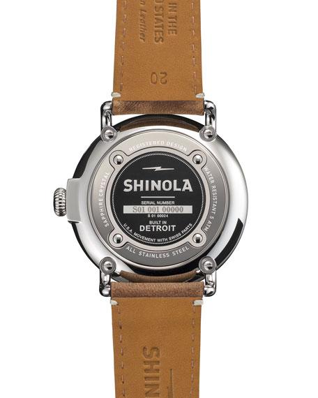 Shinola Men's 41mm Runwell Men's Watch, Light Blue