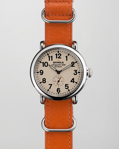 Shinola 41mm Runwell NATO Strap Men's Watch, Orange