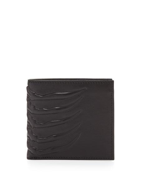 Alexander McQueen Ribcage-Embossed Bi-Fold Wallet
