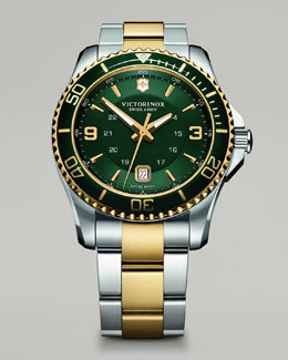 Victorinox Swiss Army Maverick Two-Tone Watch, Green