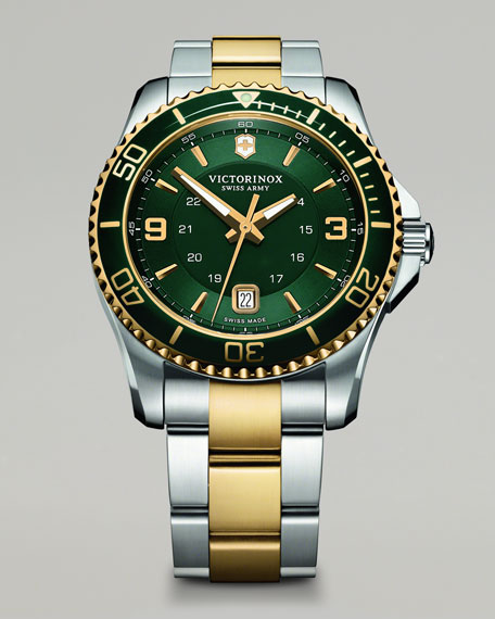 Maverick Two-Tone Watch, Green