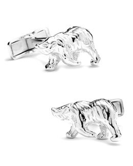 Cufflinks Inc. Sterling Polar Bear Cuff Links