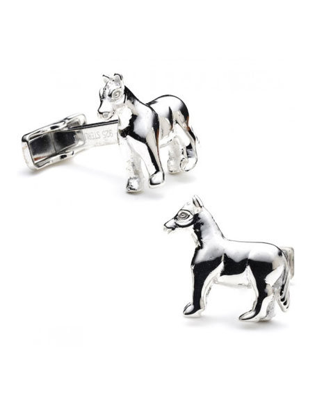 Sterling Horse Cuff Links