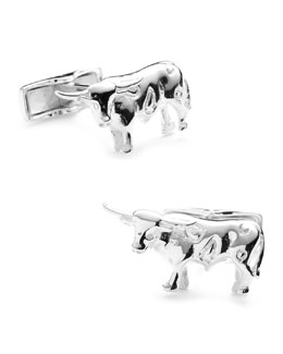 Cufflinks Inc. Sterling Longhorn Cuff Links