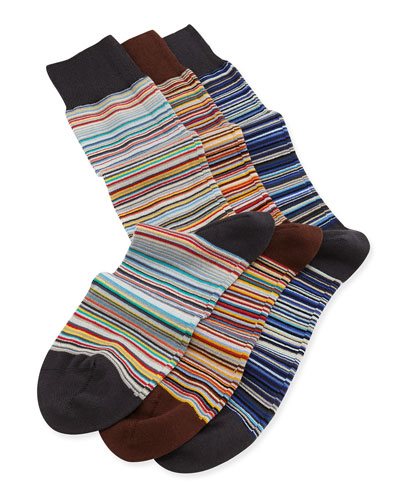 Core Stripe 3-Pair Sock Set, Multi