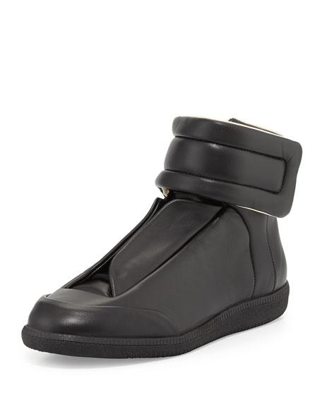 maison margiela future leather high top sneaker black. Black Bedroom Furniture Sets. Home Design Ideas