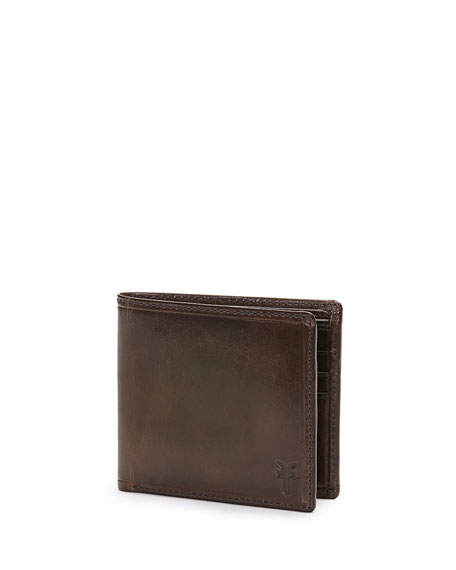 Frye Logan Leather Bi-Fold Wallet, Cognac