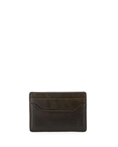 Logan Leather Card Case, Dark Brown