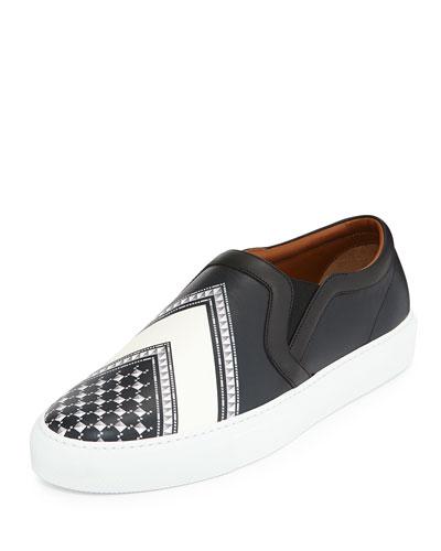 Keffiah-Print Leather Skate Shoe